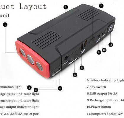 8000mah 10000mah car jump starters competitive price CE RoHs FCC