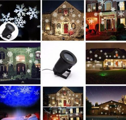 Christmas Party Lights outdoor laser light IP65 Color Stage Lamp Outdoor Garden Christmas Projection Laser Lights