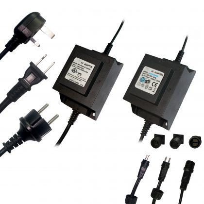 IP68 Waterproof Transformer for Garden lights Pool Lighting, 24VAC 100W 200W 250W IP68 outdoor power supplies