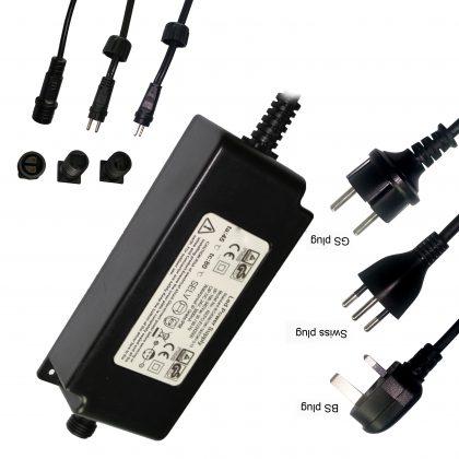 12Vdc IP68 Waterproof Transformer for LED Underwater swimming Pool Light,Ac 110~240V input