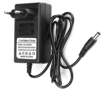 12.6V 2A Li-ion battery charger,ac dc power adapter for battery pack,black color,custmized DC connector
